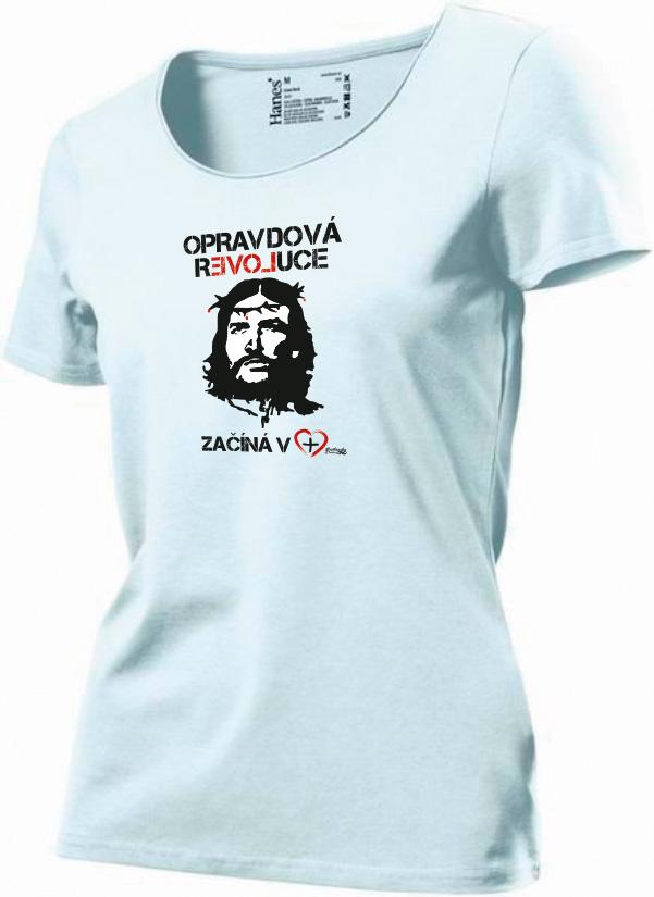 OPRAVDOVÁ REVOLUCE dámské triko bílé