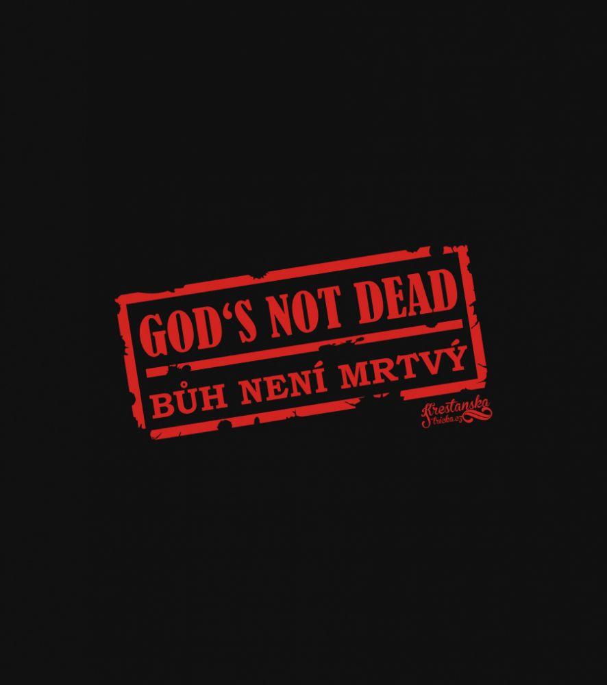 GOD'S NOT DEAD pánské triko s dl. ruk. černá