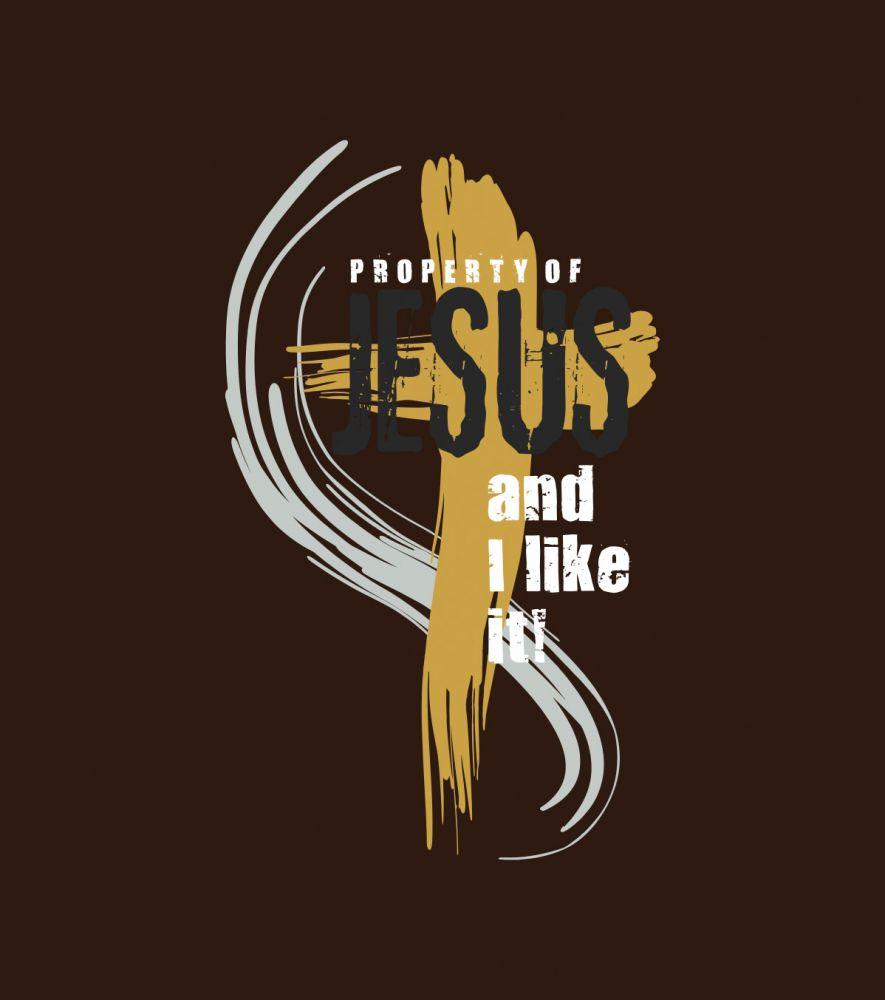 PROPERTY OF JESUS pánské triko čokoládová