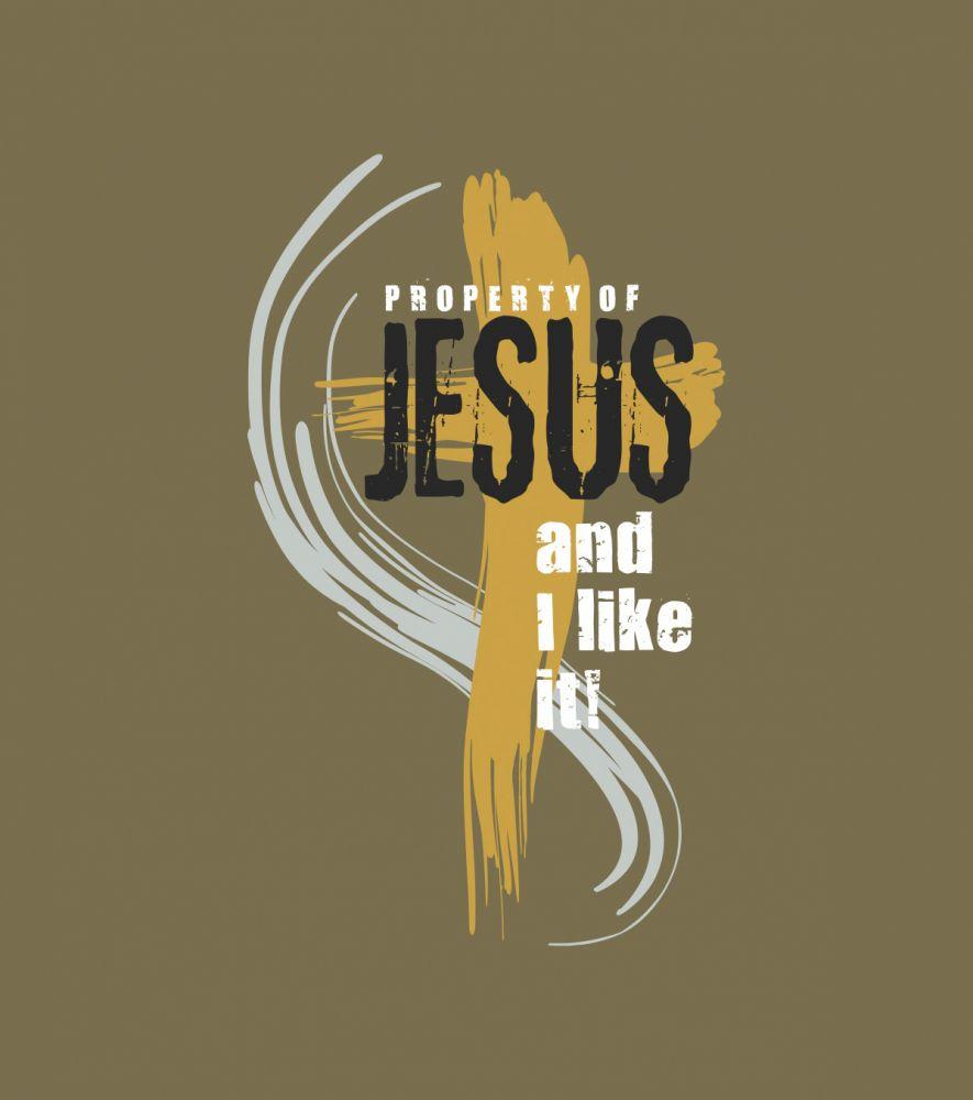 PROPERTY OF JESUS pánské triko ořechová