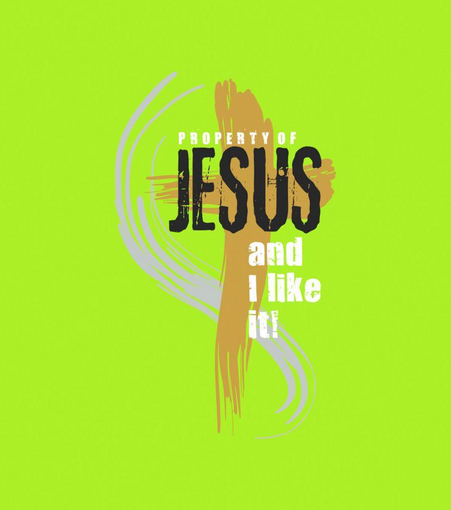 PROPERTY OF JESUS dámské triko světle zelená