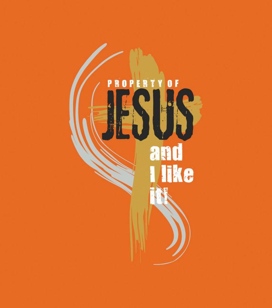PROPERTY OF JESUS dámské triko oranžová