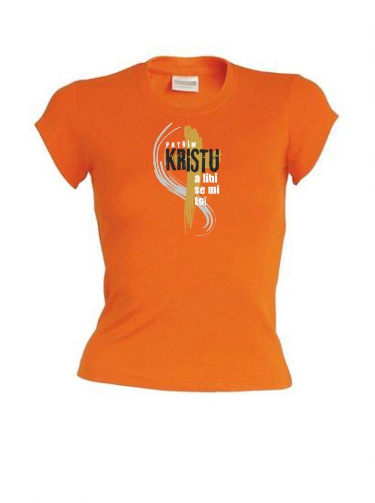 I BELONG TO CHRIST CZ womens (orange)