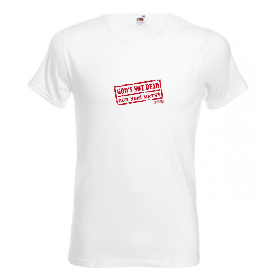 GOD'S NOT DEAD pánské triko bílá