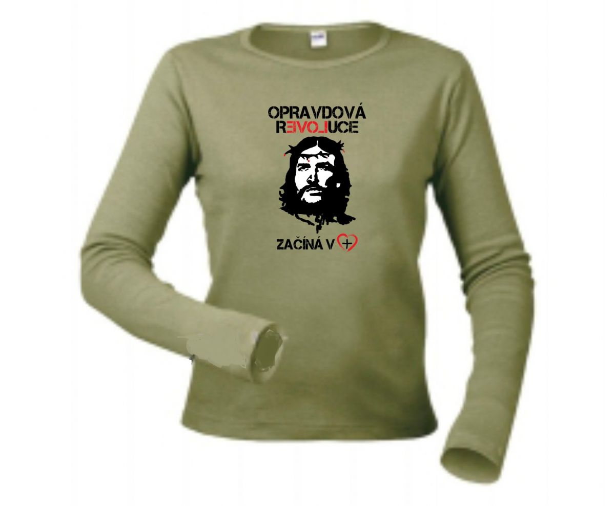 REAL REVOLUTION CZ womens long sleeve (green)