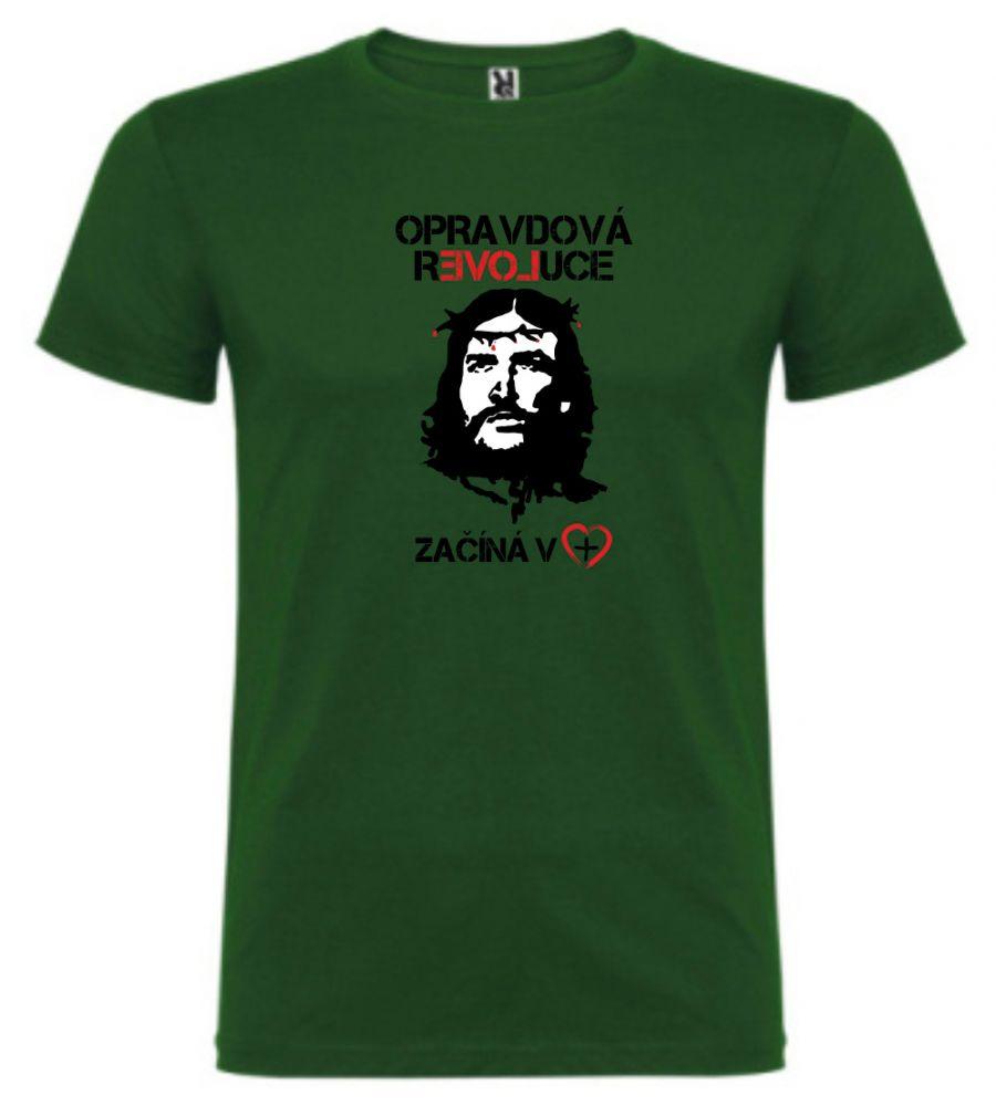 OPRAVDOVÁ REVOLUCE pánské triko zelená