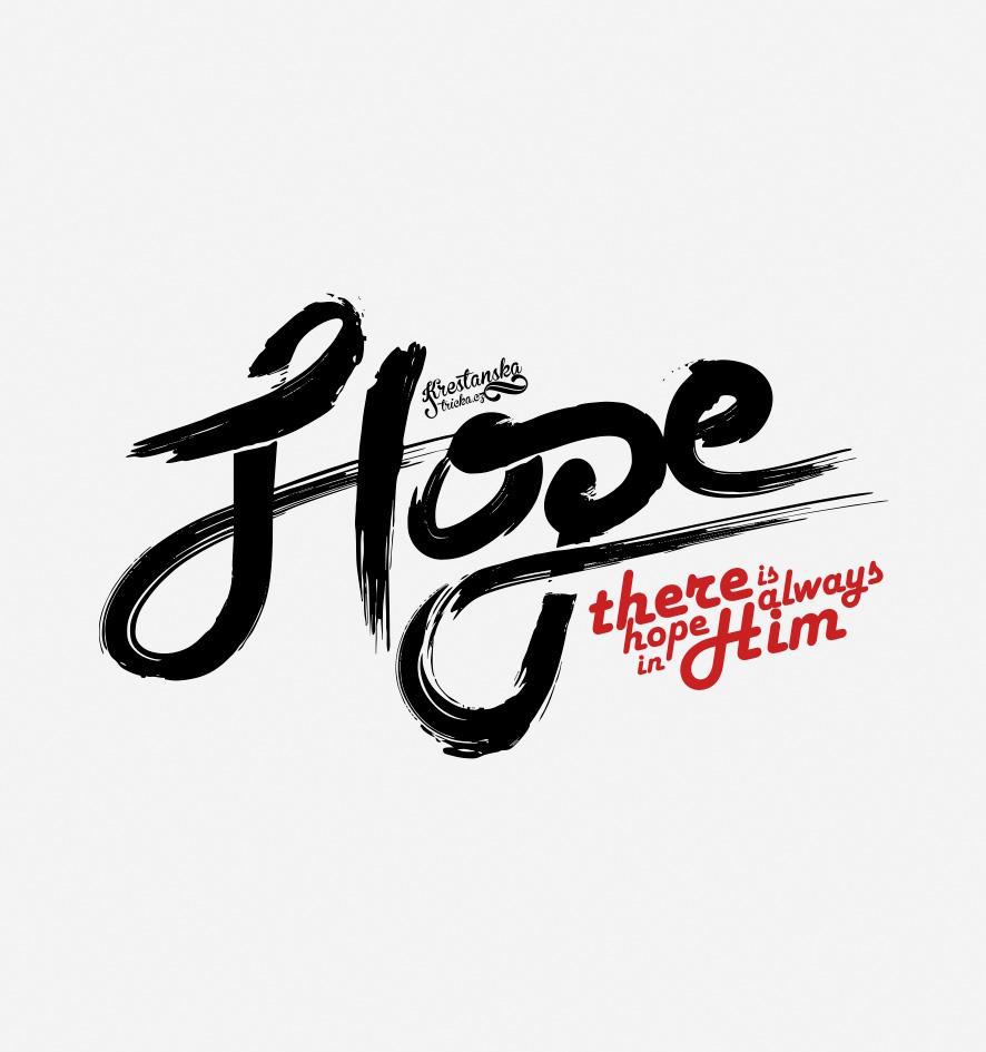 HOPE IN HIM DÁMSKÉ BÍLÉ