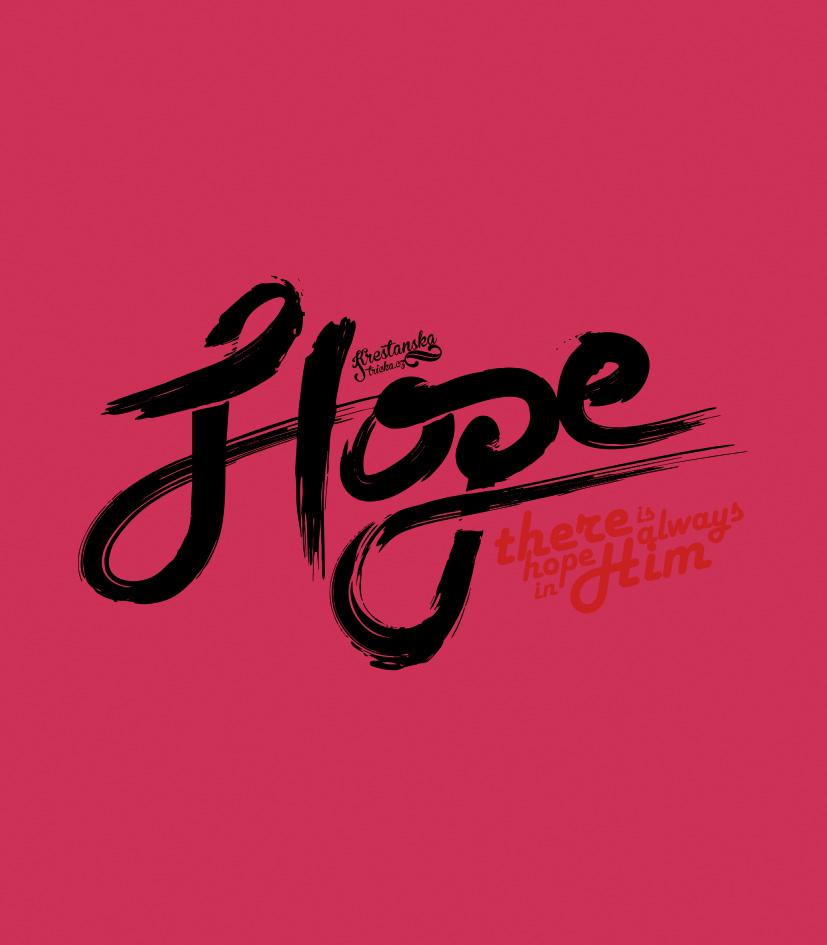 HOPE IN HIM DÁMSKÉ RŮŽOVÉ