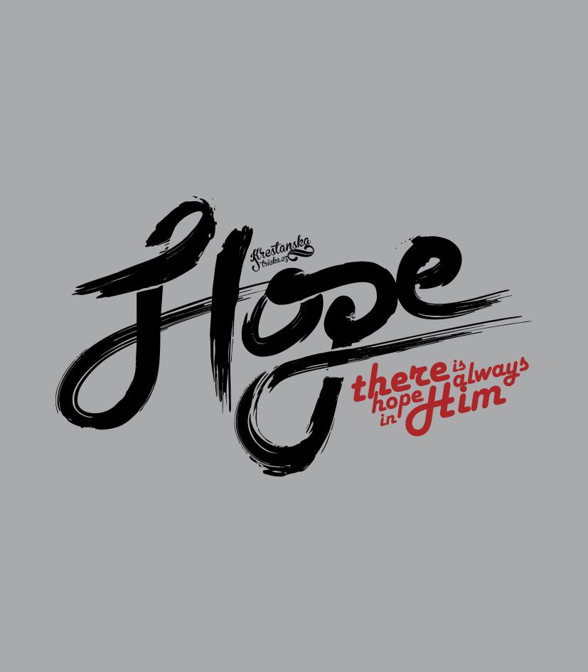 HOPE IN HIM DÁMSKÉ ŠEDÉ TÍLKO