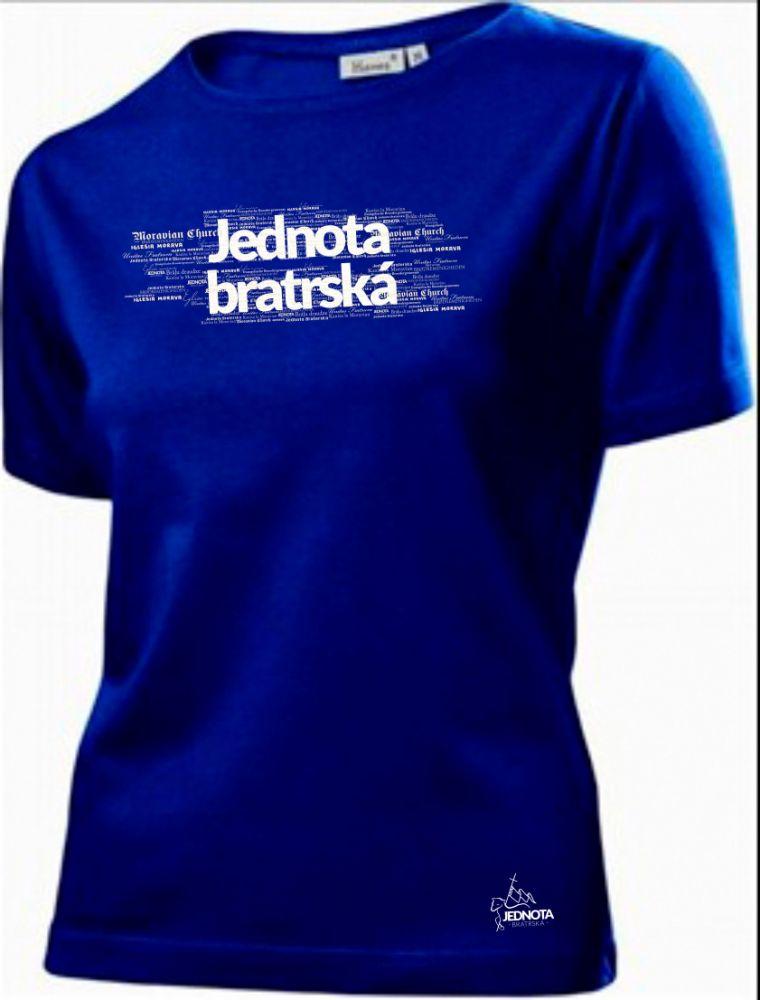 JEDNOTA BRATRSKÁ dámské triko modrá (navy)