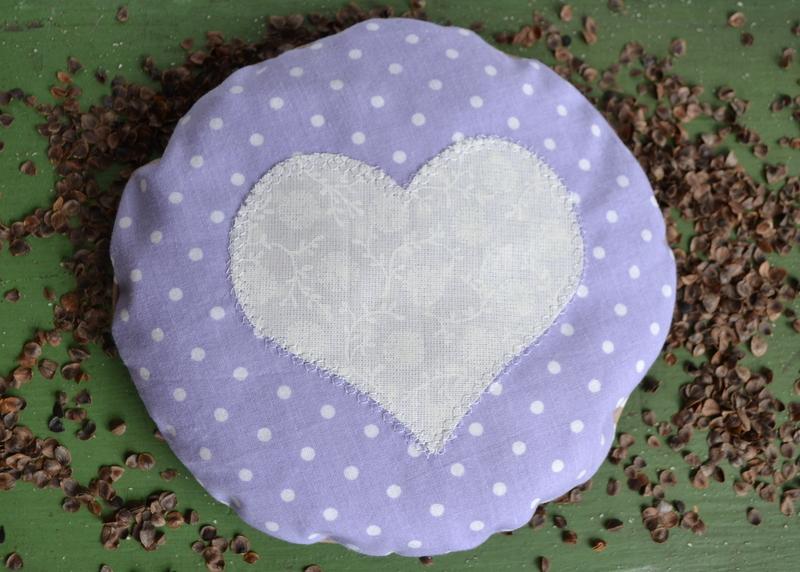 Nahřívací pohankový polštářek fialový