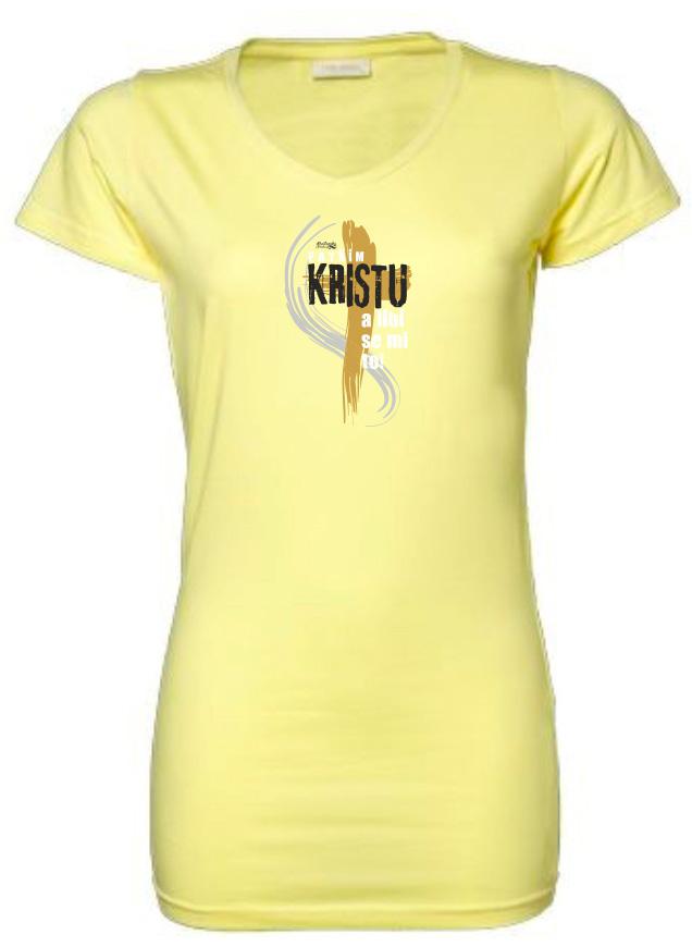 PATŘÍM KRISTU dámské triko žluté dlouhé