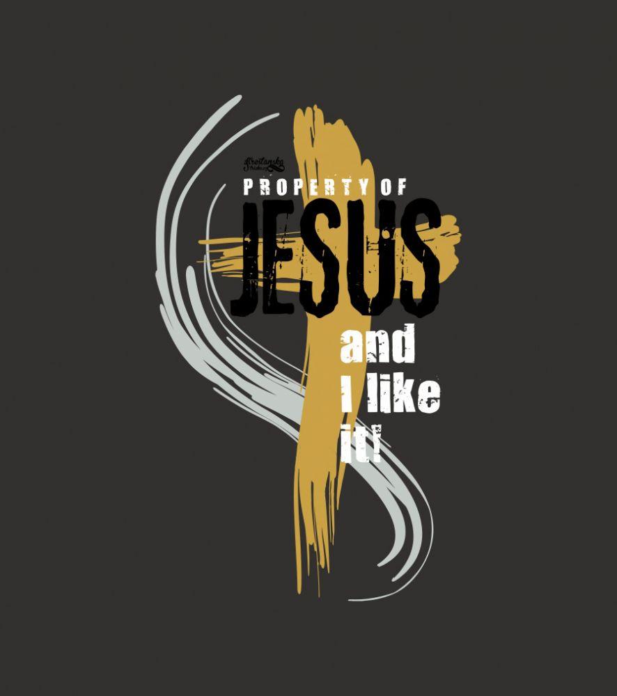 PROPERTY OF JESUS dámské triko šedá (charcoal)