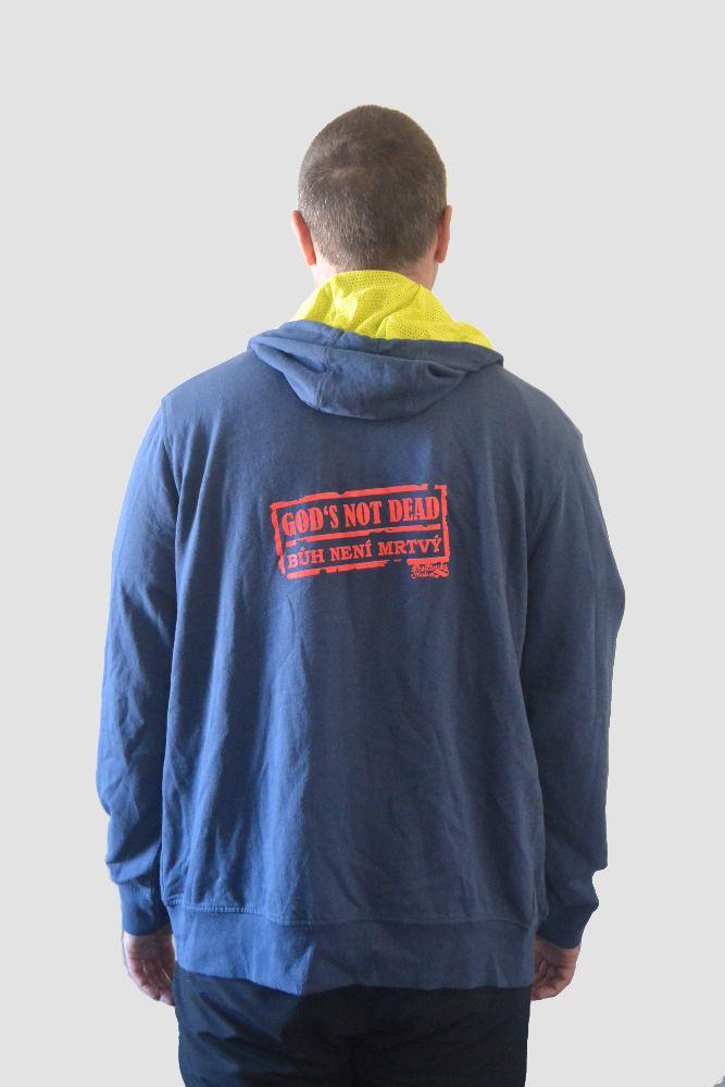 GOD'S NOT DEAD mens hoodie zipper (navy)