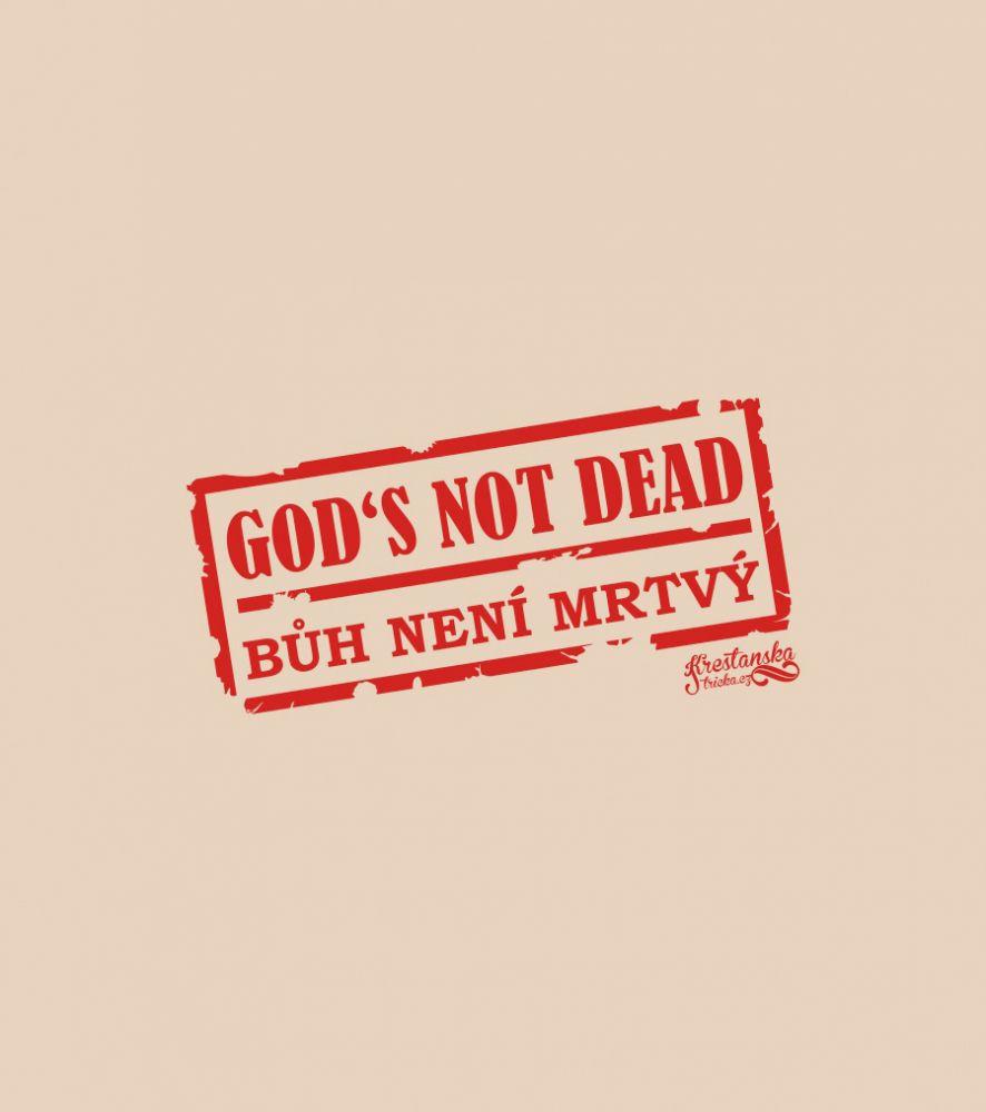 GOD'S NOT DEAD MIKINA PÁNSKÁ KRÉMOVÁ S KAPUCÍ