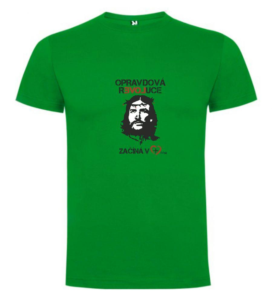 OPRAVDOVÁ REVOLUCE pánské triko tropická zelená