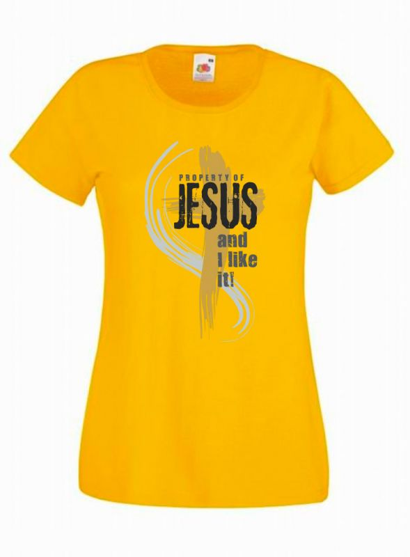 PROPERTY OF JESUS womens (sunflower)