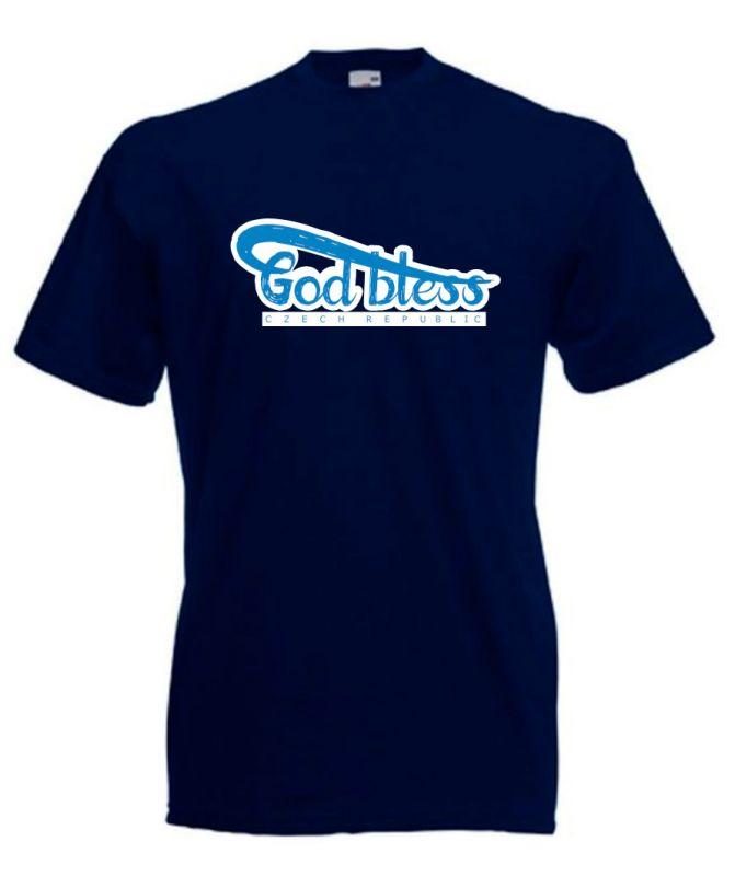 GOD BLESS CR pánské triko modré (deep navy)