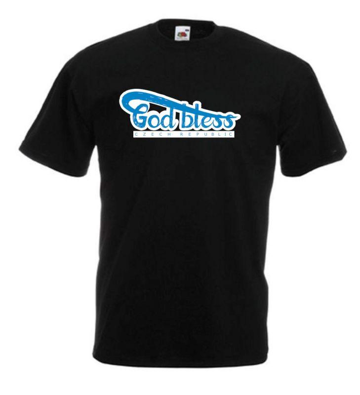 GOD BLESS CR pánské triko černé (black)