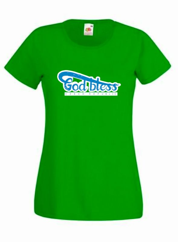 GOD BLESS CR dámské triko zelené (kelly green)