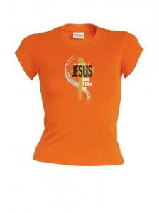 PROPERTY OF JESUS womens (orange)