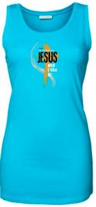 PROPERTY OF JESUS womens sleeveless (turquoise)