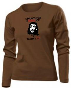 REAL REVOLUTION CZ womens long sleeve (brown)