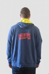 GOD'S NOT DEAD mens hoodie zipper (navy)