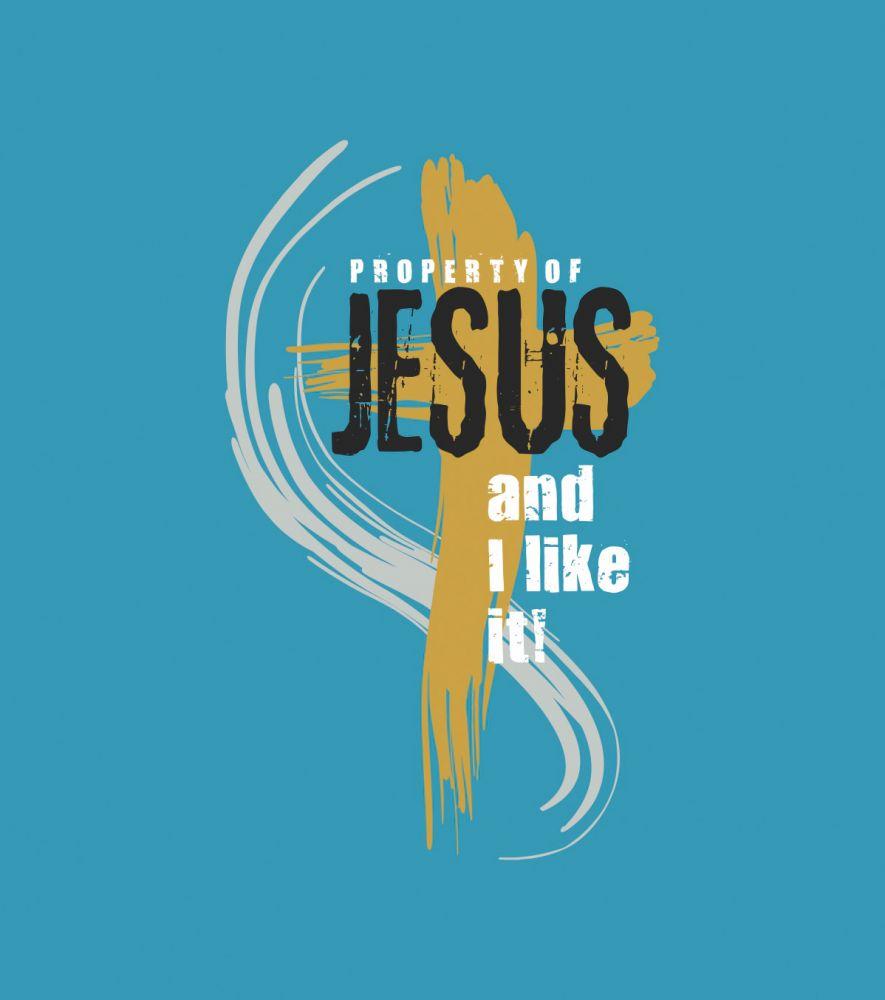 PROPERTY OF JESUS (turquoise)