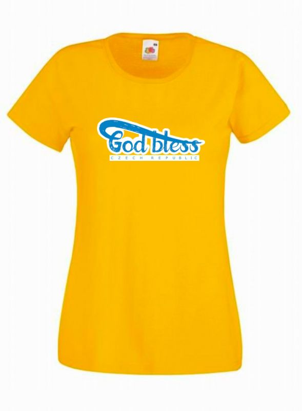 GOD BLESS CR womens (yellow)