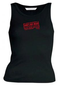 GOD'S NOT DEAD womens sleeveless (black)
